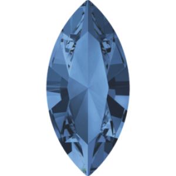 5x2.5mm Fancy Navette Xilion Montana Foiled Art. 4228 Swarovski® Austrian Crystal Stones