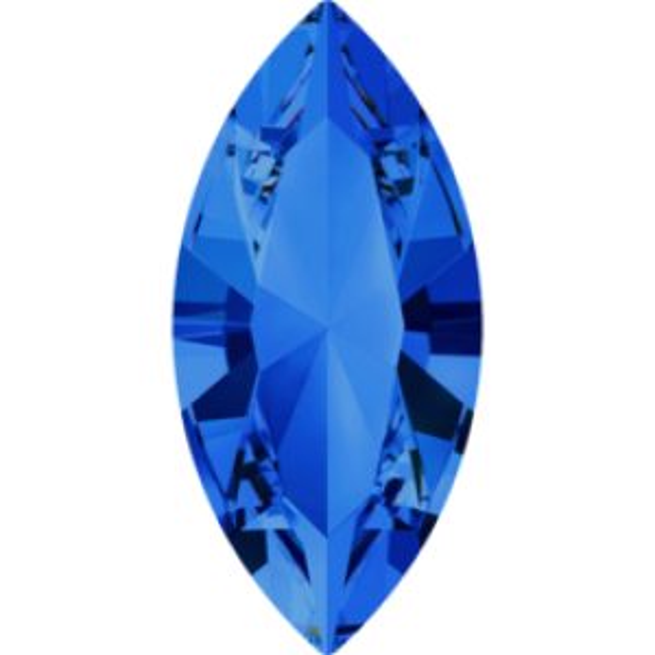 15x7mm Fancy Navette Xilion Sapphire Foiled Art. 4228 Swarovski® Austrian Crystal Stones