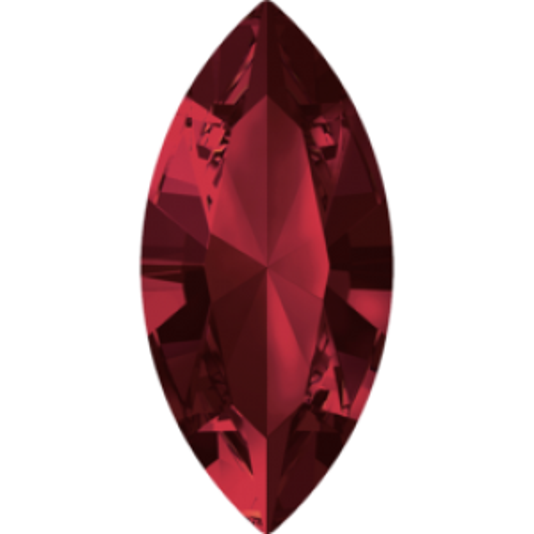 8x4mm Fancy Navette Xilion Siam Foiled Art. 4228 Swarovski® Austrian Crystal Stones