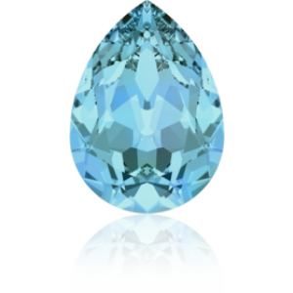 10x7mm Fancy Pear Aquamarine Foiled Art. 4320 Swarovski® Austrian Crystal Stones