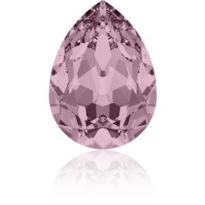 10x7mm Fancy Pear Crystal Antique Pink Foiled Art. 4320 Swarovski® Austrian Crystal Stones