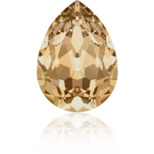 18x13mm Fancy Pear Crystal Golden Shadow Foiled Art. 4320 Swarovski® Austrian Crystal Stones