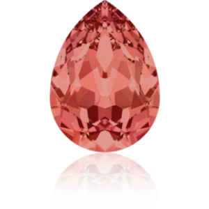 8x6mm Fancy Pear Padparadscha Foiled Art. 4320 Swarovski® Austrian Crystal Stones
