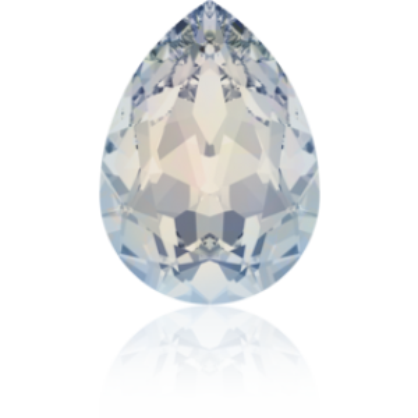 6x4mm Fancy Pear White Opal Foiled Art. 4320 Swarovski® Austrian Crystal Stones