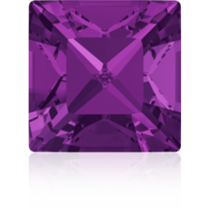 8mm Fancy Square Xilion Amethyst Foiled Art. 4428 Swarovski® Austrian Crystal Stones