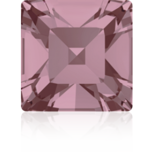 6mm Fancy Square Xilion Crystal Antique Pink Foiled Art. 4428 Swarovski® Austrian Crystal Stones