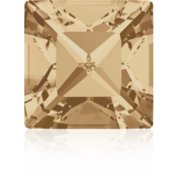 2mm Fancy Square Xilion Crystal Golden Shadow Foiled Art. 4428 Swarovski® Austrian Crystal Stones