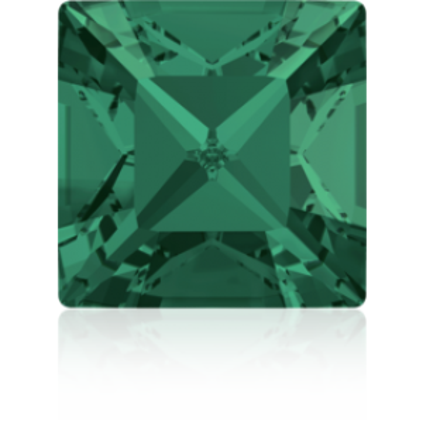 3mm Fancy Square Xilion Emerald Foiled Art. 4428 Swarovski® Austrian Crystal Stones