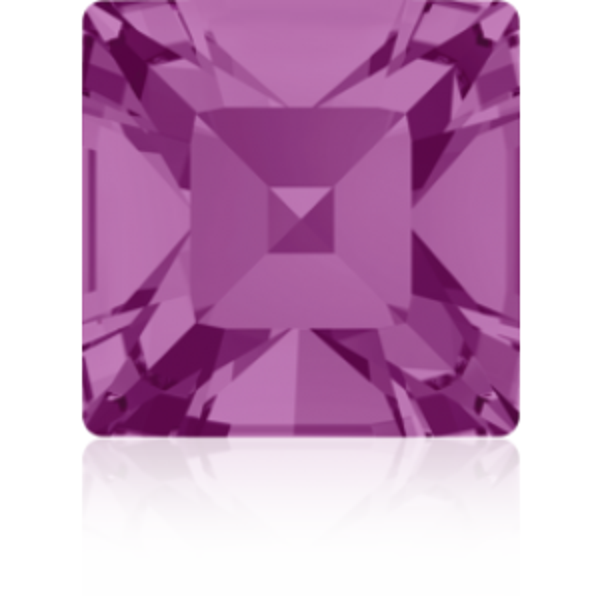 4mm Fancy Square Xilion Fuchsia Foiled Art. 4428 Swarovski® Austrian Crystal Stones