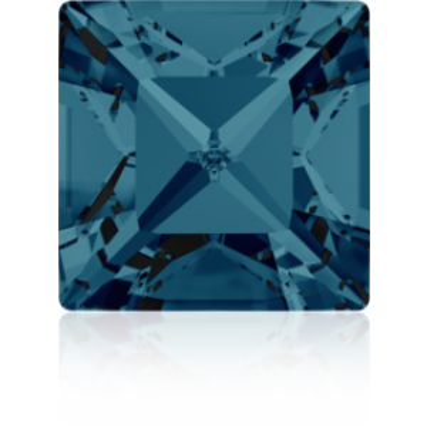 4mm Fancy Square Xilion Indicolite Foiled Art. 4428 Swarovski® Austrian Crystal Stones