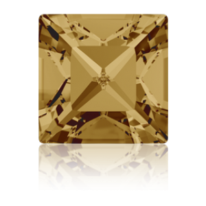 4mm Fancy Square Xilion Light Colorado Topaz Foiled Art. 4428 Swarovski® Austrian Crystal Stones