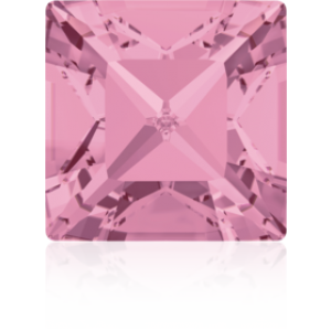 6mm Fancy Square Xilion Light Rose Foiled Art. 4428 Swarovski® Austrian Crystal Stones
