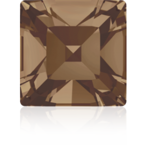 6mm Fancy Square Xilion Light Smoked Topaz Foiled Art. 4428 Swarovski® Austrian Crystal Stones