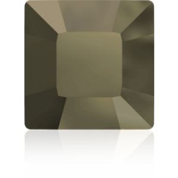 3mm Fancy Square Xilion Crystal Metallic Light Gold Foiled Art. 4428 Swarovski® Austrian Crystal Stones