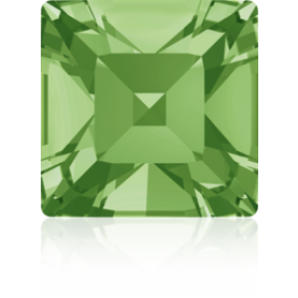 4mm Fancy Square Xilion Peridot Foiled Art. 4428 Swarovski® Austrian Crystal Stones