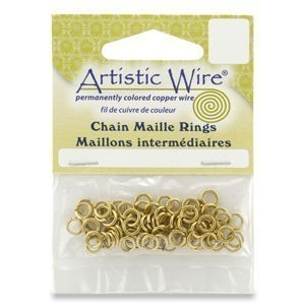 Beadalon® 20g Jump Ring Id 7/64 Inch Tarnish-Resistant Brass 170pcs