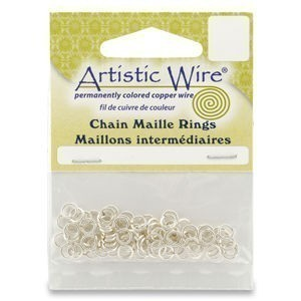 Beadalon® 20g Jump Ring Id 7/64 Inch Tarnish-Resistant Silver 110pcs