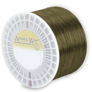 Artistic Wire® 26 Gauge Antique Brass - Priced by The Pound (Apx 1250 Feet)