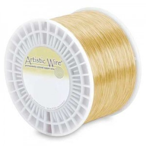 Artistic Wire® 24 Gauge Tarnish-Resistant Brass - Priced by The Pound (Apx 790 Feet)