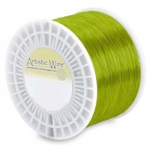 Artistic Wire® 28s Gauge Chartreuse - Priced by The Pound (Apx 1990 Feet)