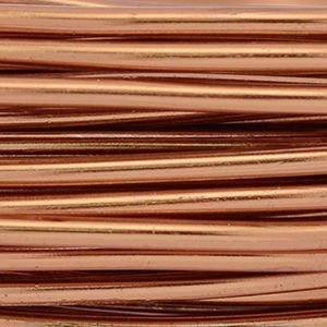 Artistic Wire® Aluminum Craft Wire 12 Gauge (2.1mm) Round Anodized Light Brown 39.3ft (12m)