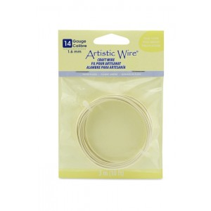 Artistic Wire® 14 Gauge (1.6mm) Silver Plated Pearl Silver 10ft (3.1m)