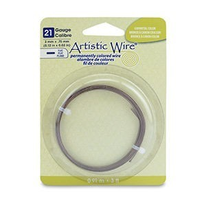 Artistic Wire® 21 Gauge Flat 3 Mm X .75 Mm (0.12 in X 0.03 In) Antique Brass Color 3 Ft (.91 M)