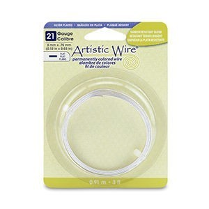 Artistic Wire® 21 Gauge Flat 3mm X .75mm (0.12in X 0.03in) Stainless Steel 3ft (.91m)