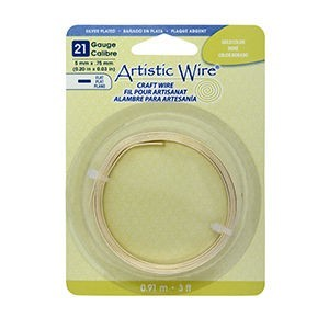 Artistic Wire® 21 Gauge Flat 5mmx.75mm (0.20inx0.03in) Gold Color 3ft (.91m)