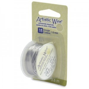 Artistic Wire® 18 Gauge Stainless Steel 4yd