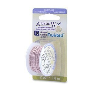Artistic Wire® 18 Gauge (1.0mm) Twist Round Rose Gold Color 2yd (1.82m)