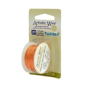 Artistic Wire® 20 Gauge Twist Round Natural 3yd