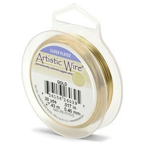 Artistic Wire® 24s Gauge Gold Color 15yd