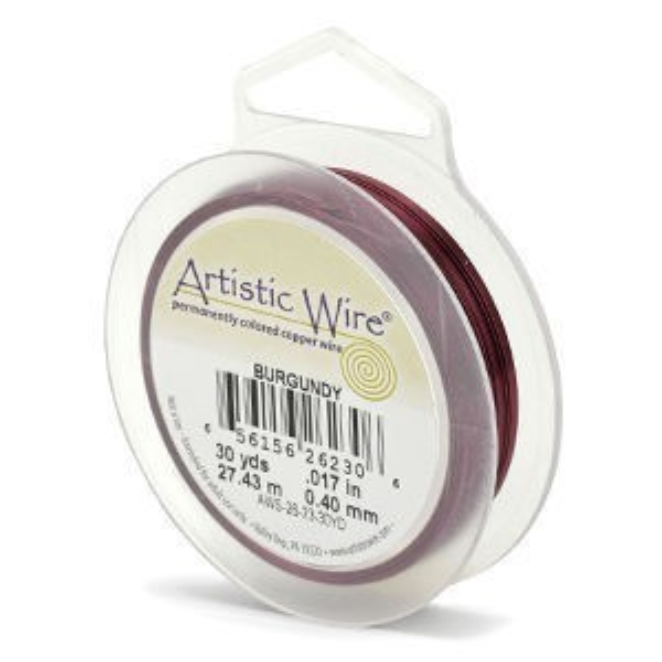 Artistic Wire® 28 Gauge Burgundy 40yd