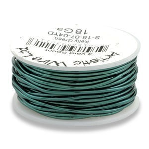 Artistic Wire® 22 Gauge Kelly Green 1/4lb (Apx 41 Yards)