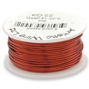 Artistic Wire® 22 Gauge Red 1/4lb (Apx 41 Yards)