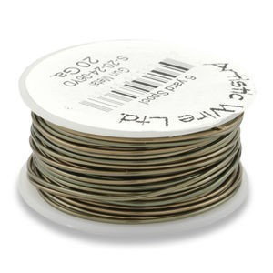 Artistic Wire® 20 Gauge Antique Brass 1/4lb (Apx 26 Yards)