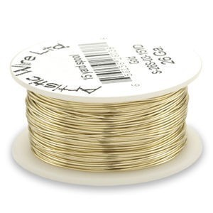Artistic Wire® 22 Gauge Tarnish-Resistant Brass 1/4lb (Apx 41 Yards)