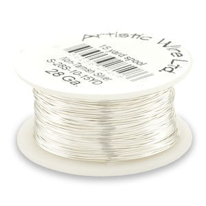 Artistic Wire® 22s Gauge Tarnish-Resistant Silver 1/4lb (Apx 41 Yards)