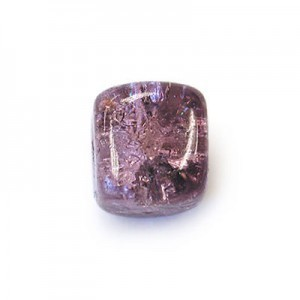 8x11mm Amethyst Crackled Cube Czech Glass Beads (300pc)