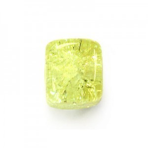 8x11mm Jonquil Crackled Cube Czech Glass Beads (300pc)