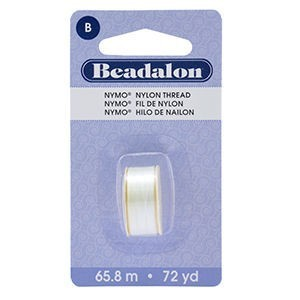 Beadalon® Nymo B 0.20mm White 1pc
