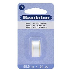 Beadalon® Nymo D 0.30mm White 1pc