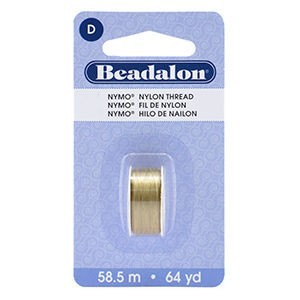 Beadalon® Nymo D 0.30mm Sand #2 1pc