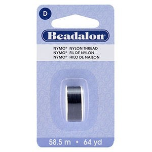 Beadalon® Nymo D 0.30mm Black 1pc