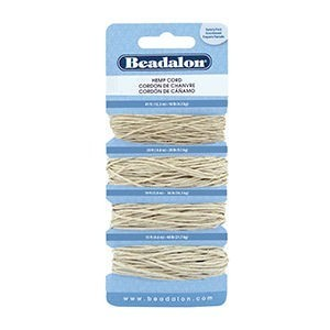 Beadalon® Cord Variety Pack Hemp Natural Color 10# (41ft 12.5m) 20# (29ft 8.8m) 36# (19ft 5.8m) 48# (15ft 4.5m)