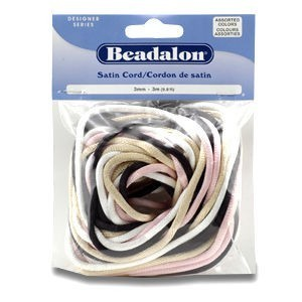Beadalon® Satin Cord 3mm 4color Asst 12m