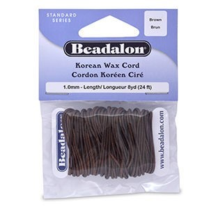 Beadalon® Korea Wax Cord 1.0mm Brown 8yd