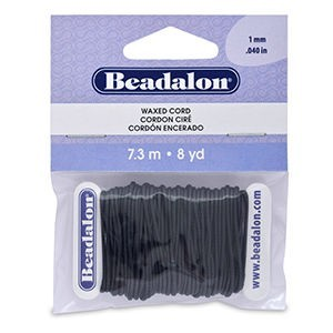 Beadalon® Korea Wax Cord 1.0mm Black 8yd