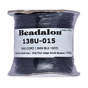 Beadalon® Korea Wax Cord 1.0mm Black 100yd